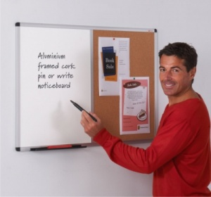 Metro Aluminium Framed Cork / Felt Notice Board
