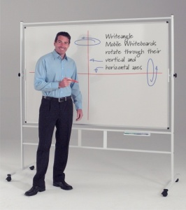 Freestanding Dual Action Revolving Laminate Whiteboards