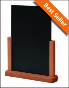 Hardwood Matt Teak Finish Tabletop Chalkboards
