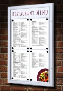 Lockable LED Outdoor Menu Case