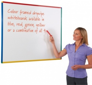 Keycolour Colour Framed Drywipe Whiteboards