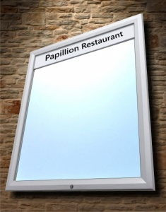 Lockable LED Outdoor Menu Case (IP56)