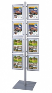 Multistand Freestanding A4 Poster Display