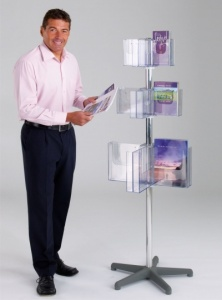 Pirouette Freestanding Literature Dispenser