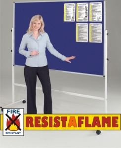 Resist-A-Flame Double Sided Mobile Noticeboard