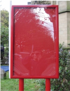 Storm Post Mounted School Notice Boards