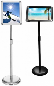 Freestanding Telescopic Menu Stand
