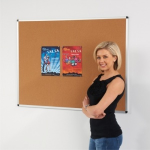 Metro Aluminium Framed Cork Notice Boards