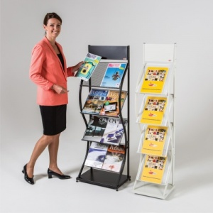 Wider Wave Freestanding Literature Holders