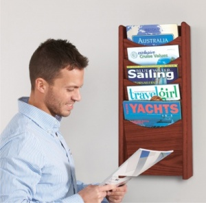 Wooden Wall Mounted Literature Dispensers