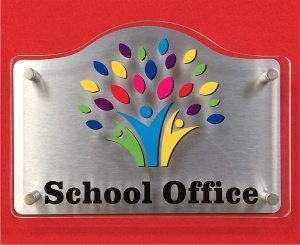 Acrylic Stand Off School Door Signs