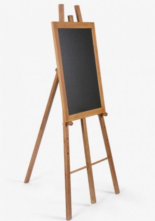 hardwood chalkboard easel - signs 4 schools