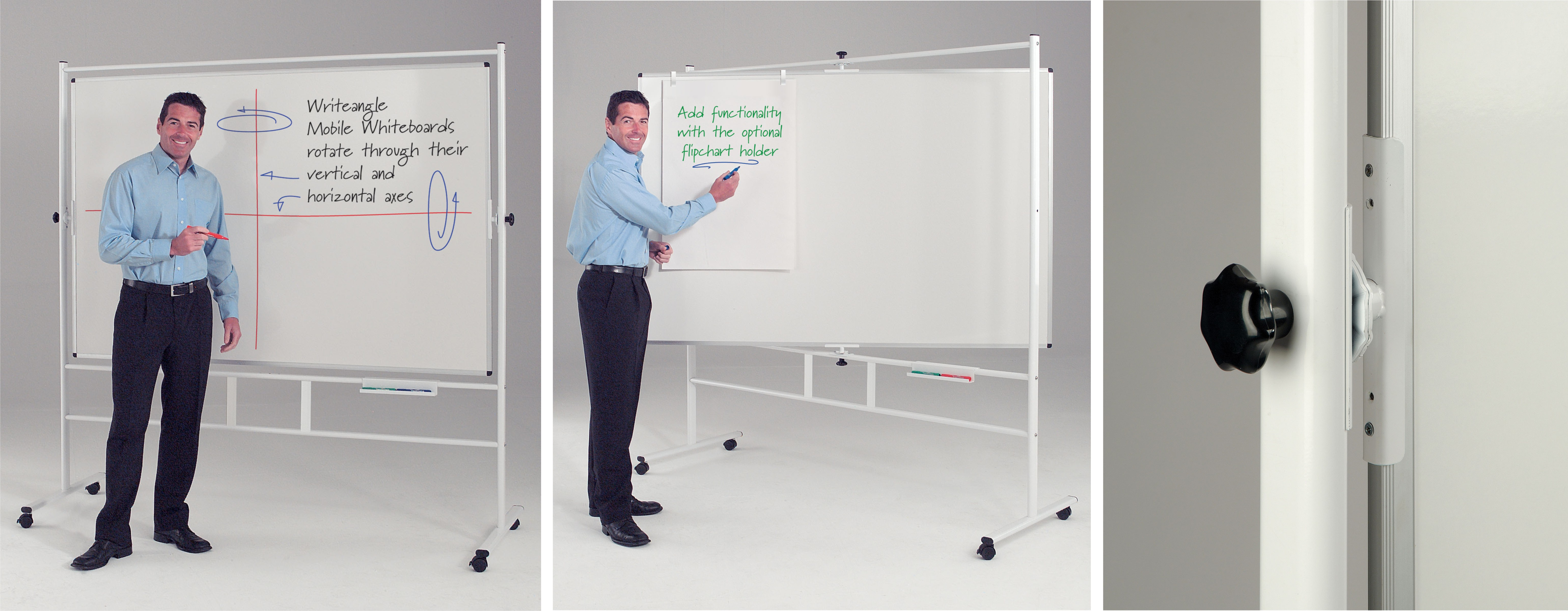 Dual Action Revolving Whiteboard