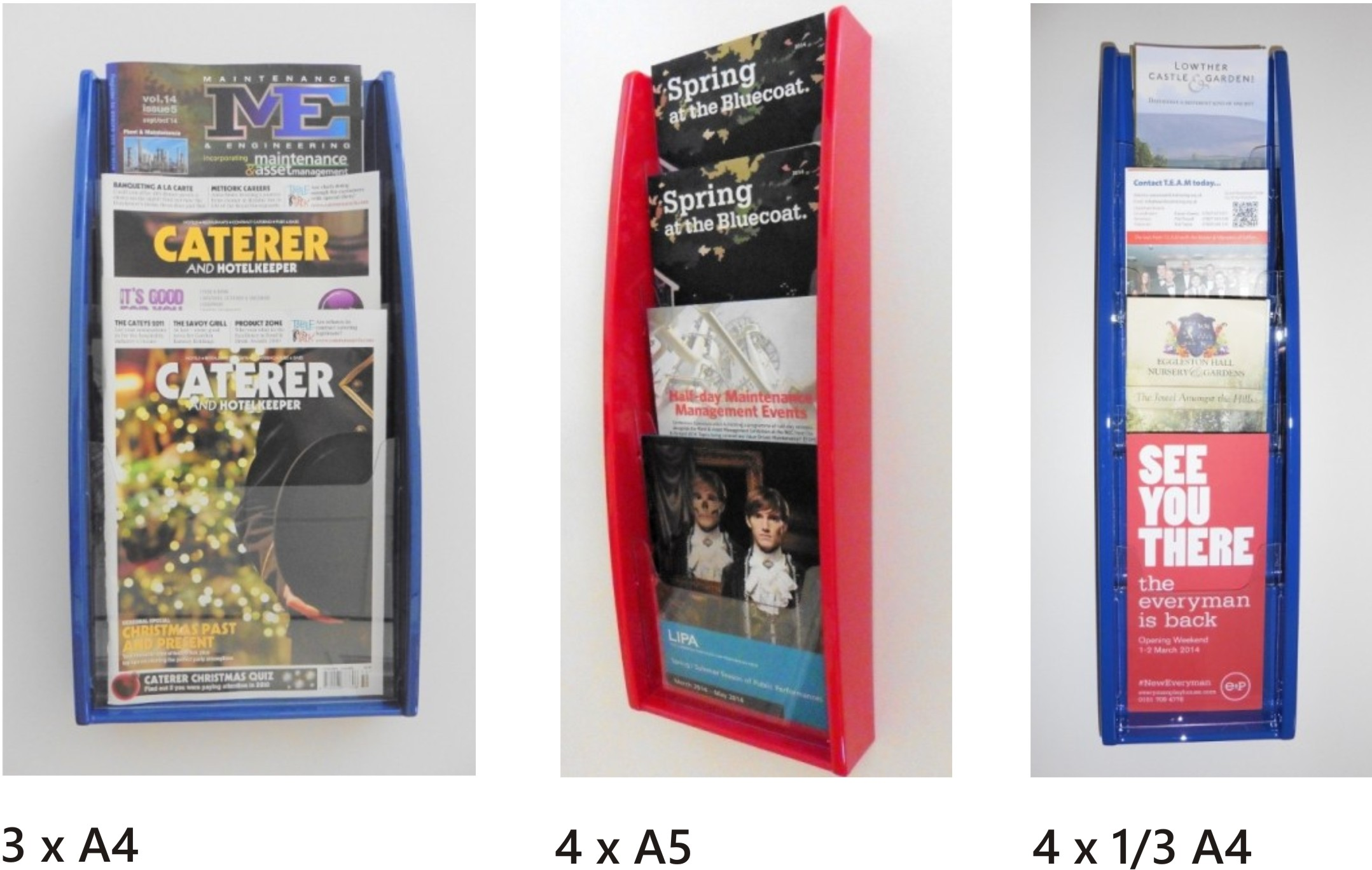 Multimax Single Tier Leaflet / Literature Holders