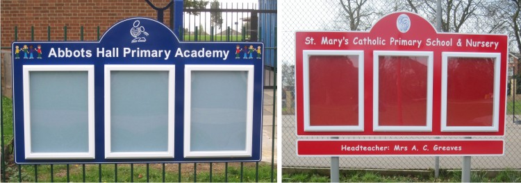 Triple Superior External School Notice Boards