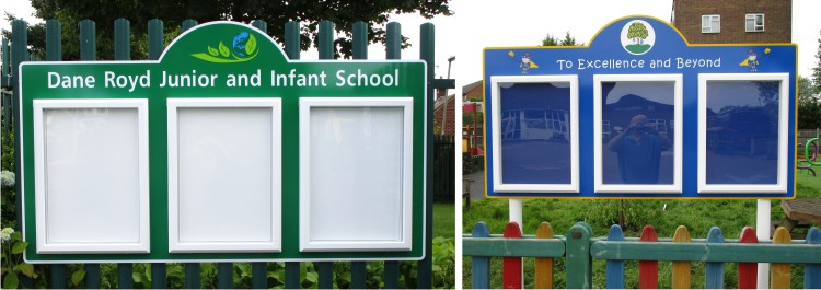 Triple Superior Lockable Exterior School Notice Boards