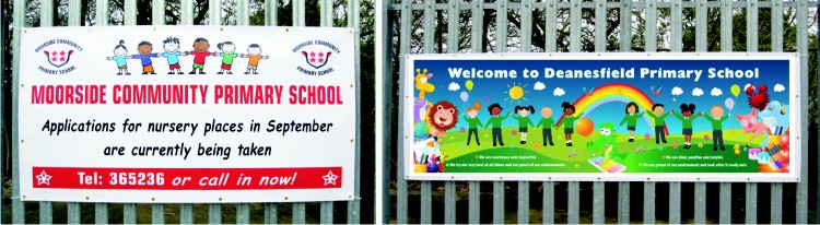 Signs for Schools printed banner
