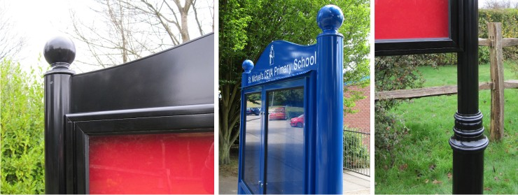 Premium Post Mounted External School Notice Boards