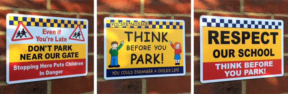 No Parking School Safety Signs