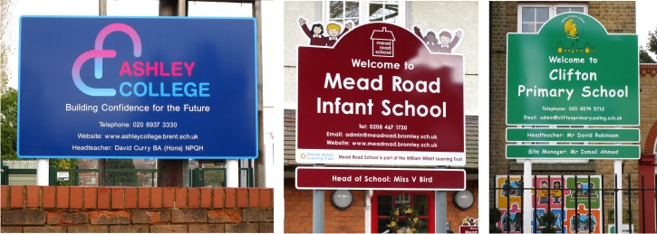 post mounted school signage