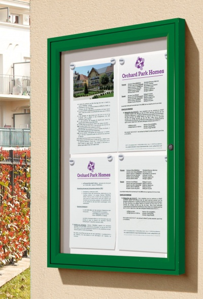 The Tradition Wall Mounted External Notice Board Signs 4