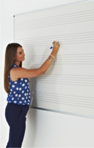 Music Line e3 Vitreous Enamel Drywipe Whiteboards