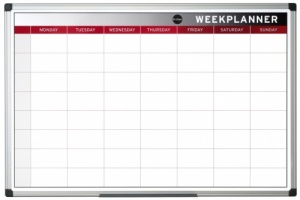 Colour Magnetic Drywipe Week Planner