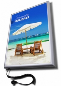 Flat Front Illuminated Poster Light Box