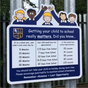 School Attendance Encouragement Signs