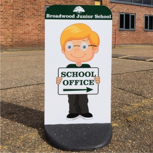 Character Child Friendly Custom Pavement Signs