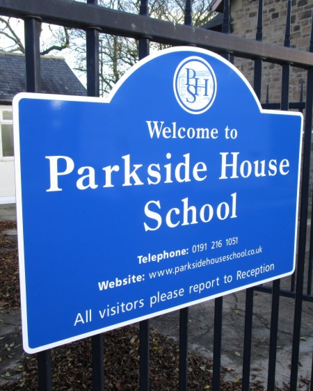 School Signs Railings Mounted at Parkside House School
