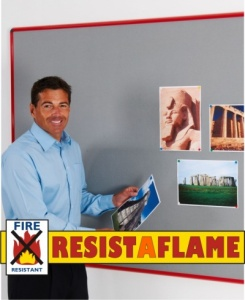 Resist-A-Flame Coloured Frame Notice Boards
