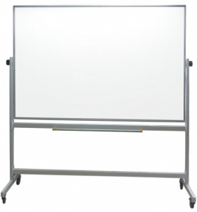 Slimline - Mobile Magnetic Drywipe Whiteboard