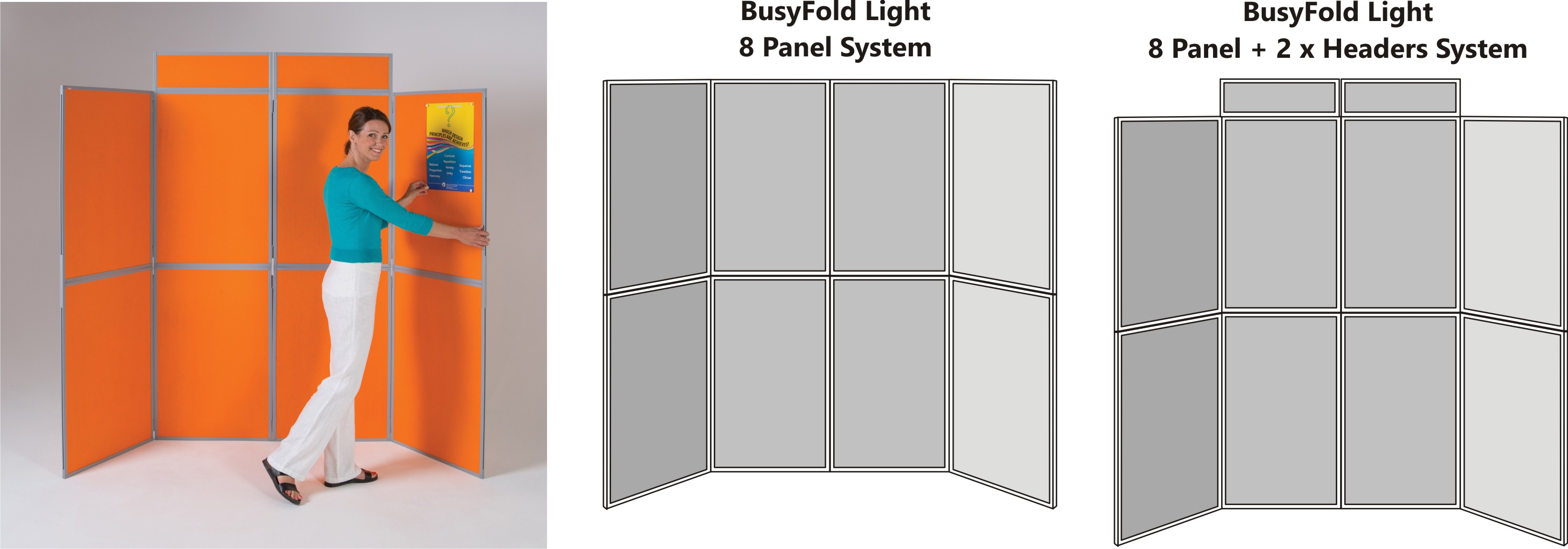BusyFold Light 7 Panel Display System