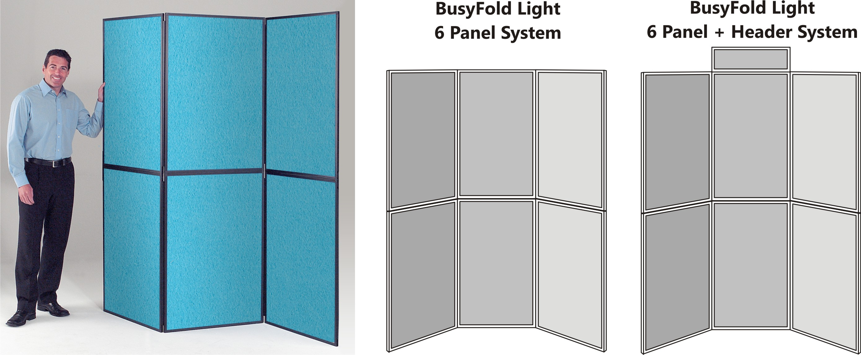 BusyFold Light XL 6 Panel Display System