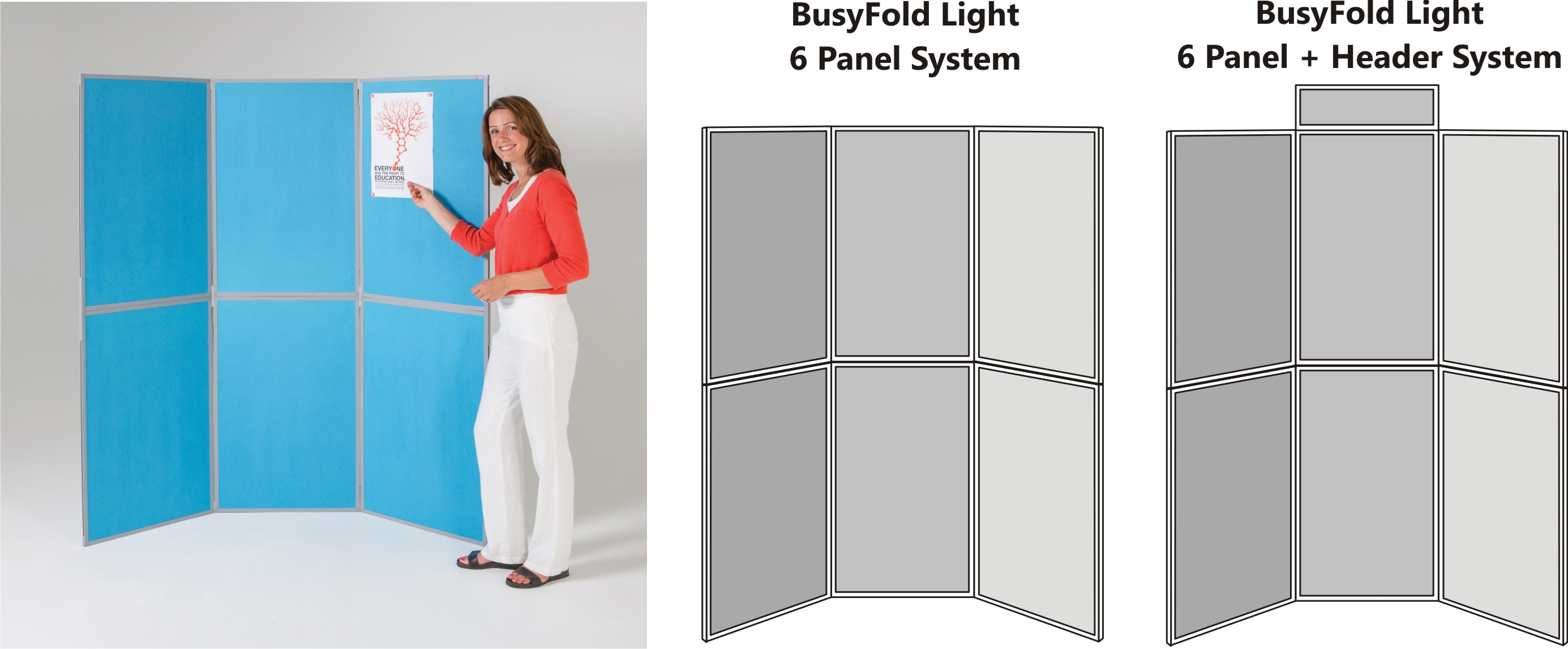 BusyFold Light 6 Panel Display System