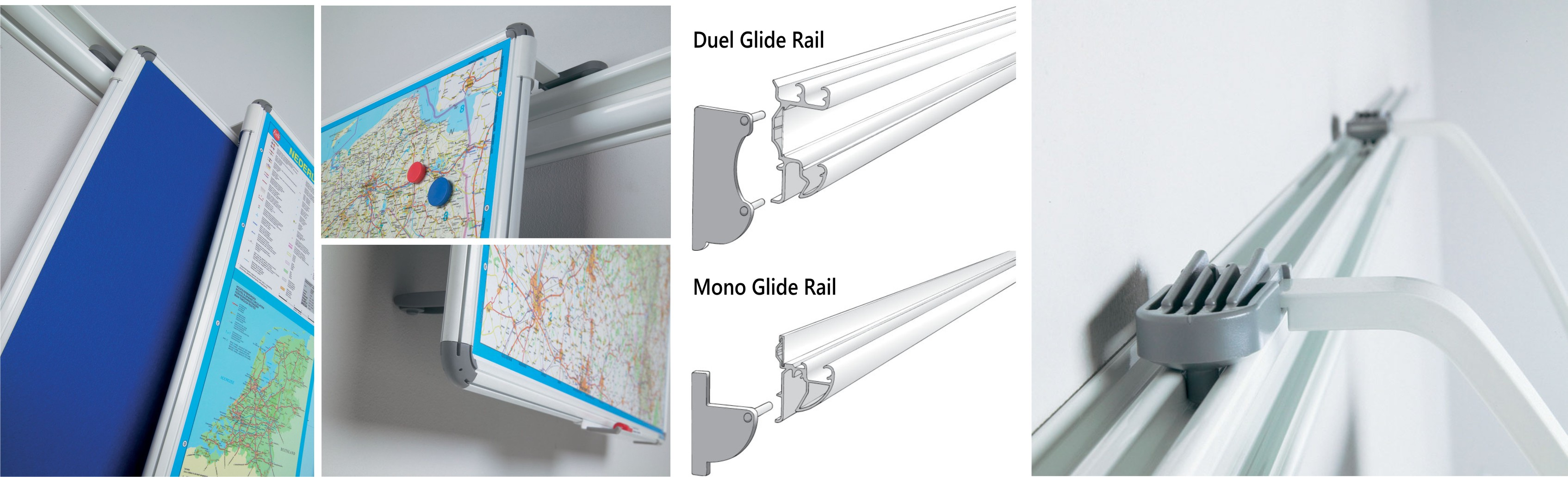 Busy Rail Deluxe - Wall Mounted Rail System