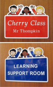 Character Office and Classroom Door Signs