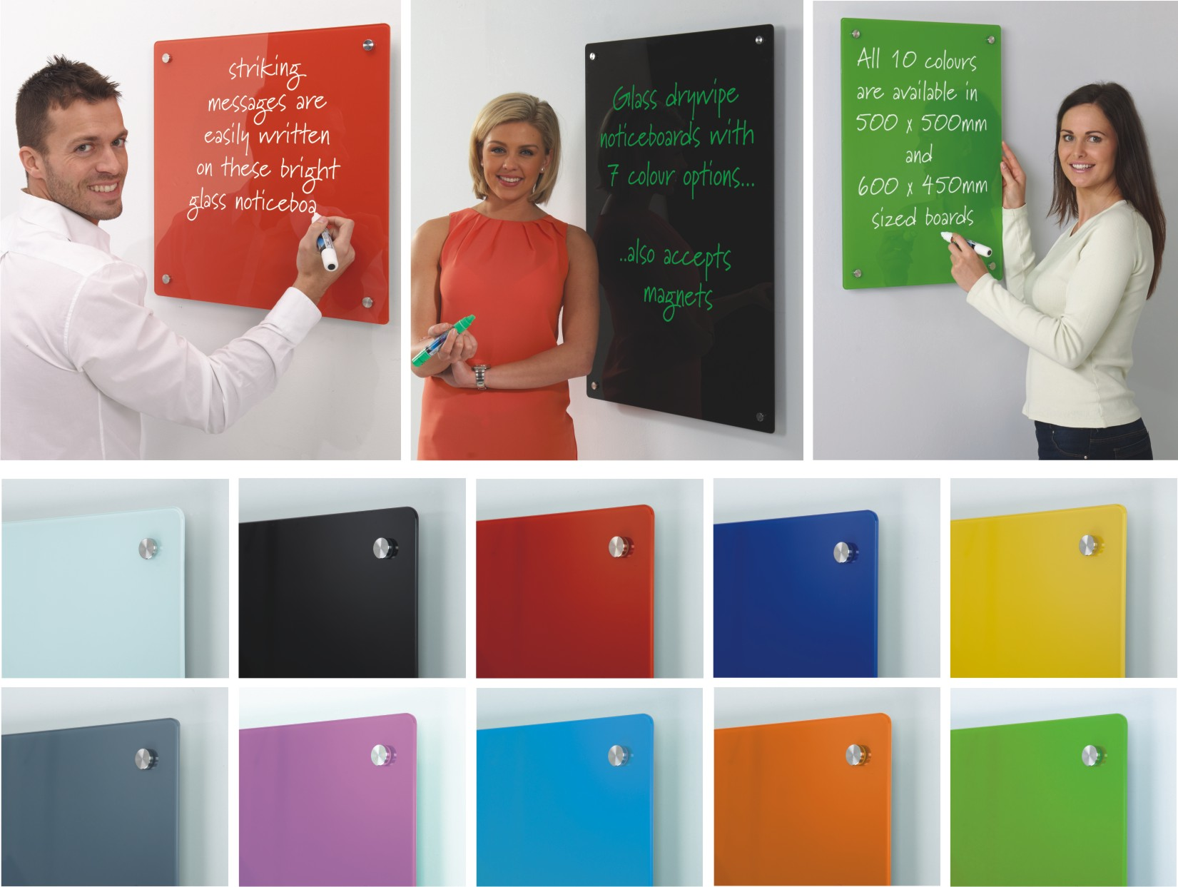 Coloured Glass Information Boards