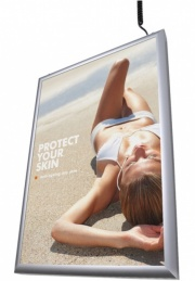 double sided Flat front poster light box