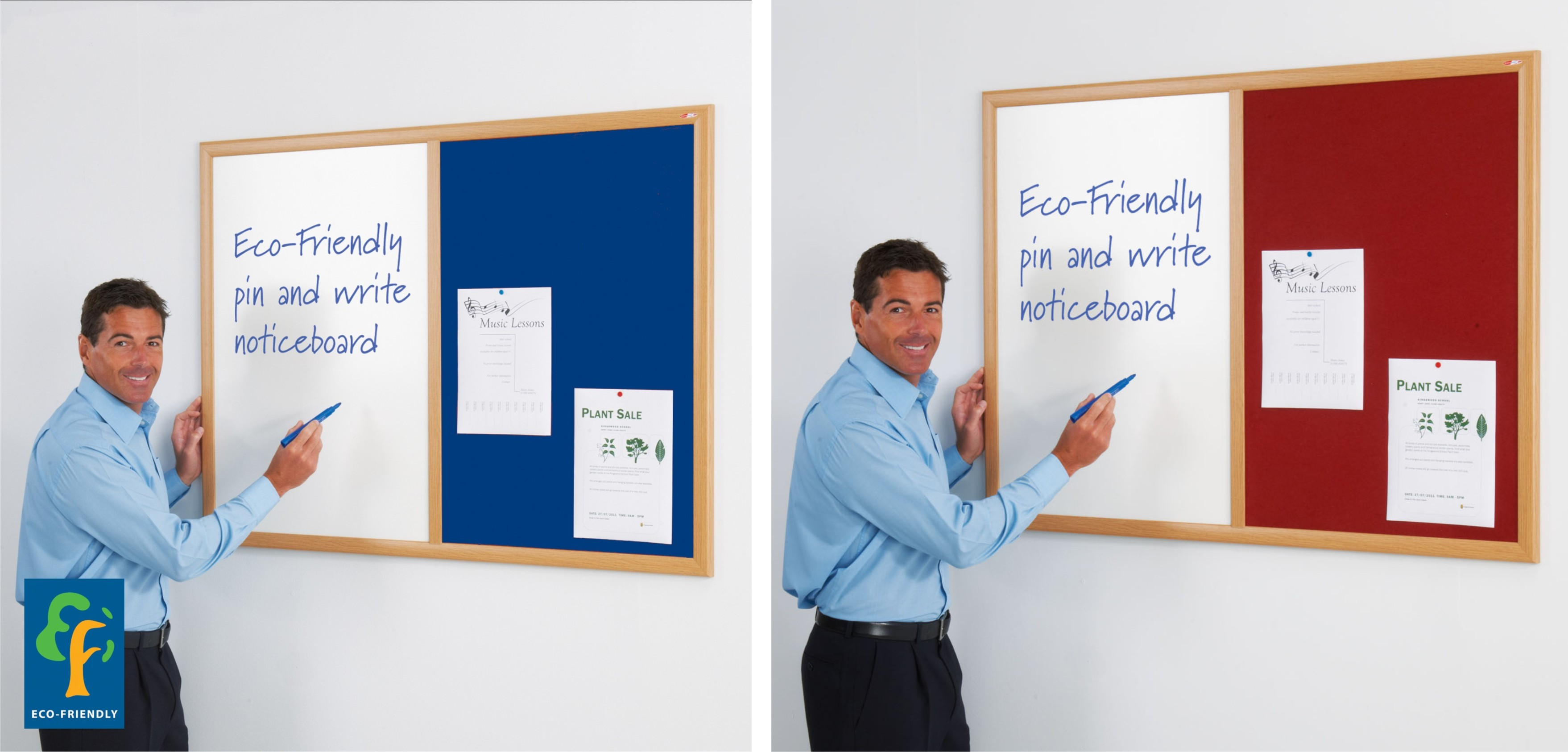 Eco Friendly Dual Noticeboards