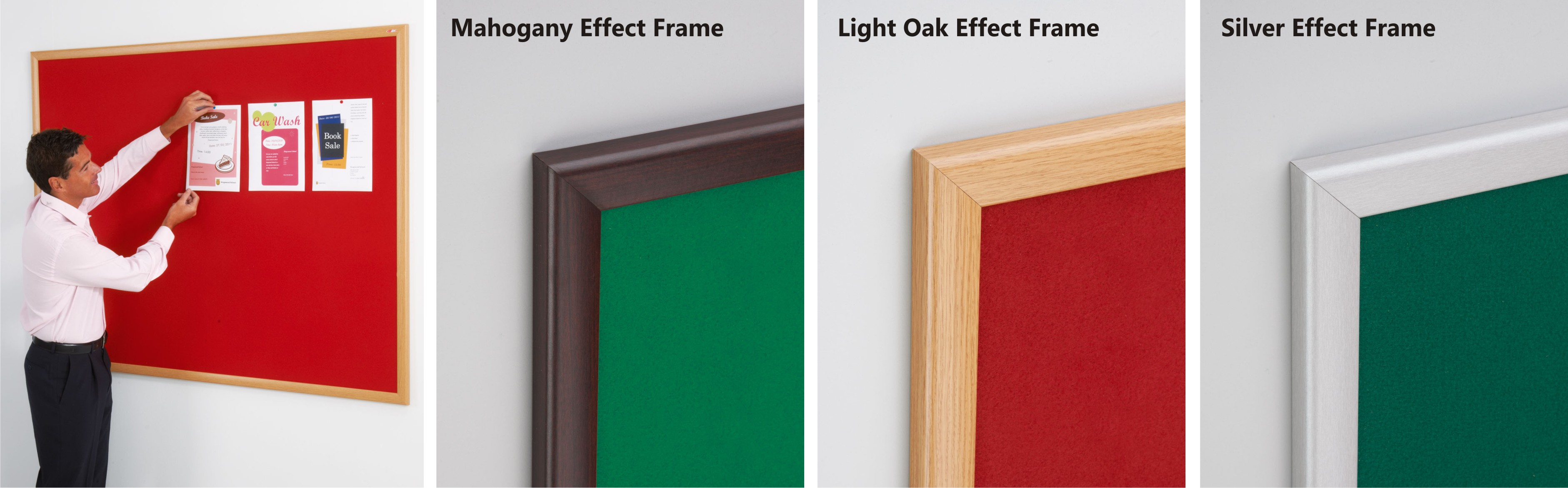 Eco-Friendly Wood Framed Felt Noticeboards