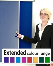 The Vision Glass Sliding Door Notice Board Extended Colour Range