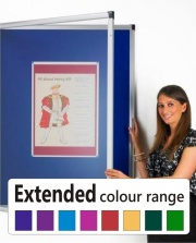 The Deluxe Tamperproof Noticeboard - Extended Colour Range