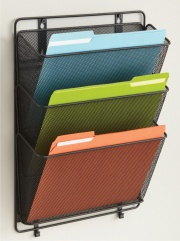 Extra Wide Wire Mesh Literature Holders