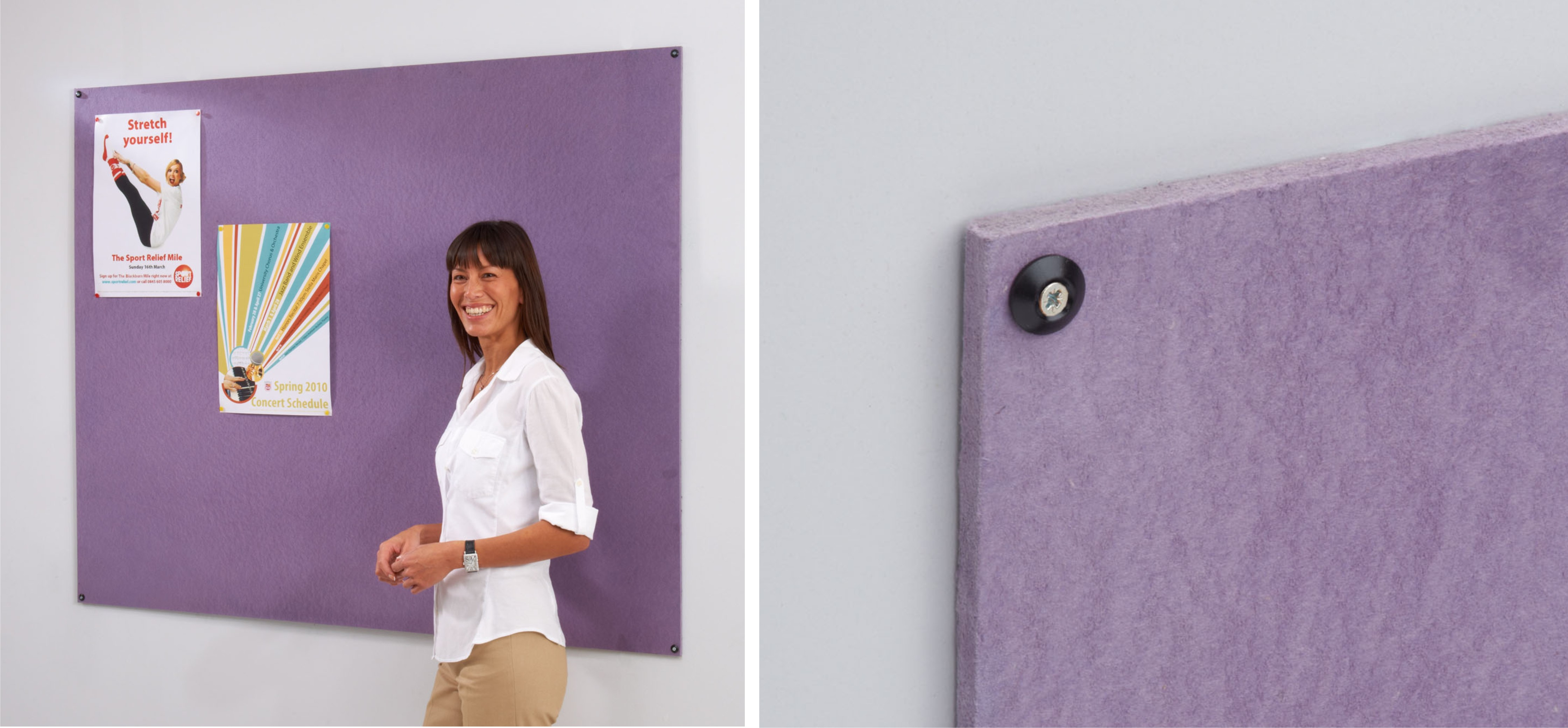 Frameless Recycled Noticeboards