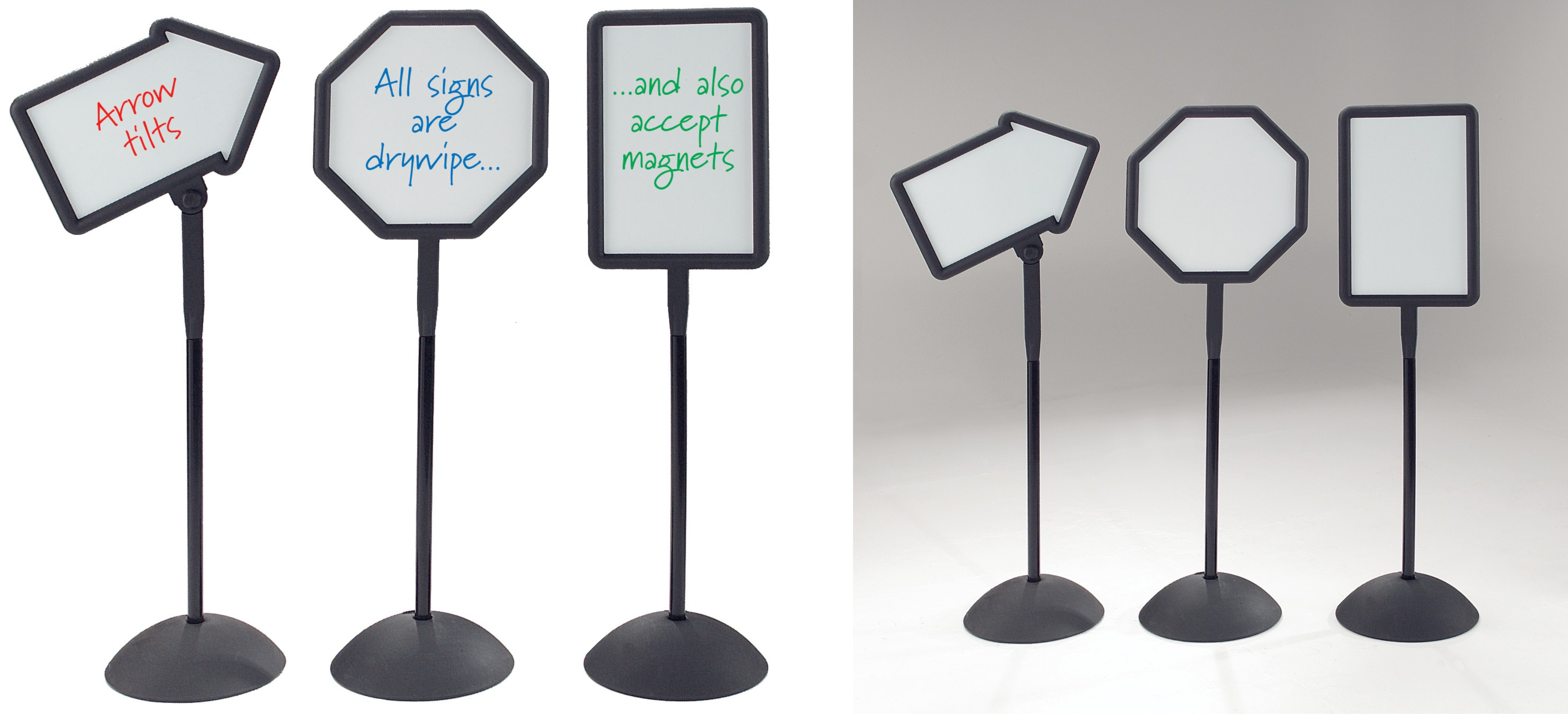 Freestanding Magnetic Whiteboard Signs