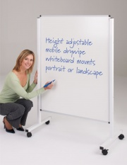WriteOn Height Adjustable Mobile Whiteboards