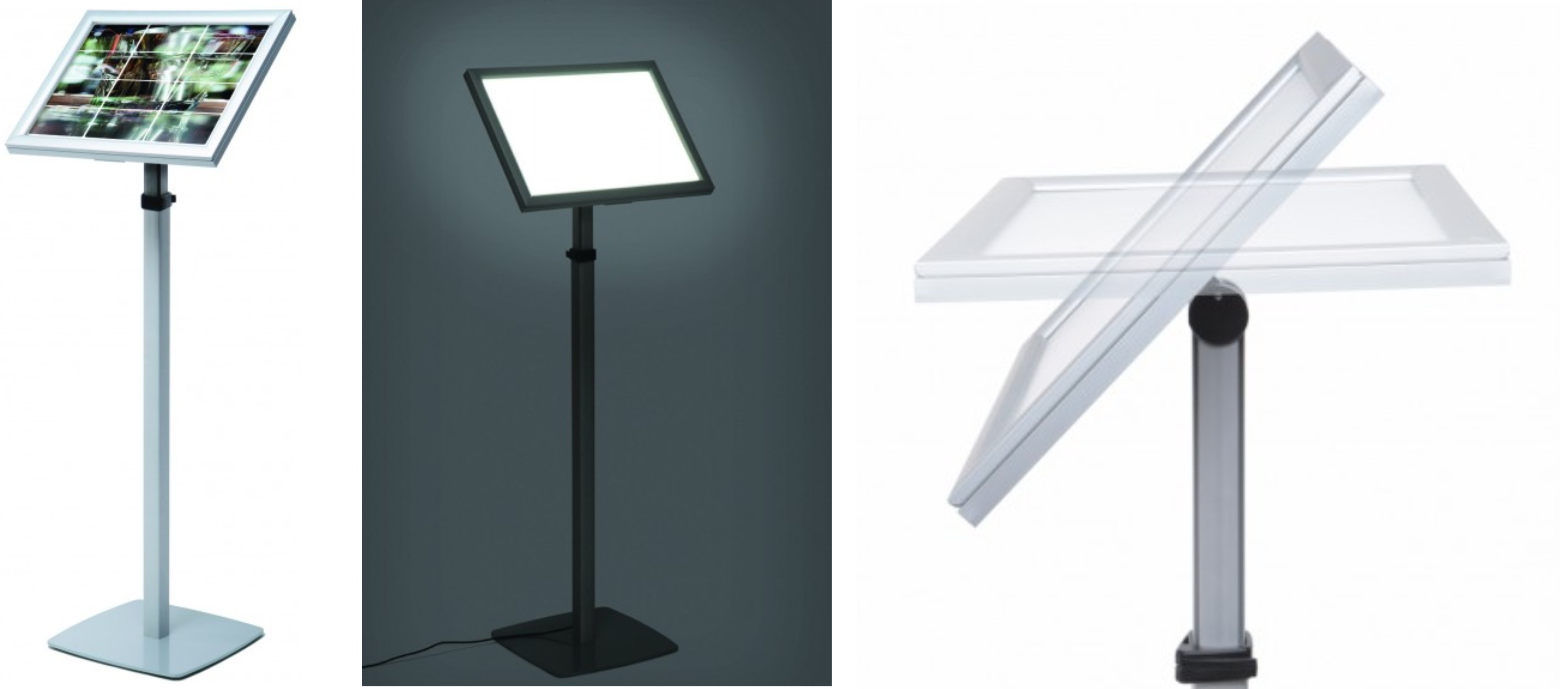 Back Lit Telescopic Menu Stand