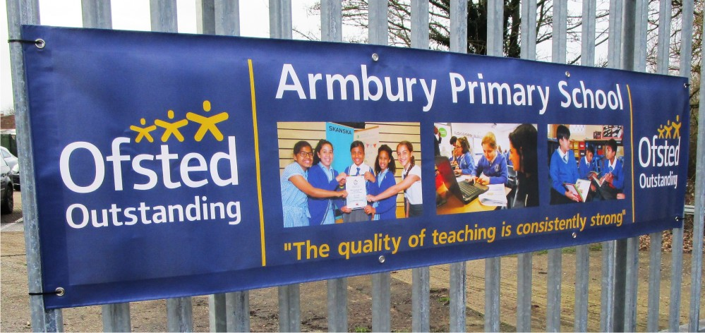 Custom Printed School Ofsted Banner